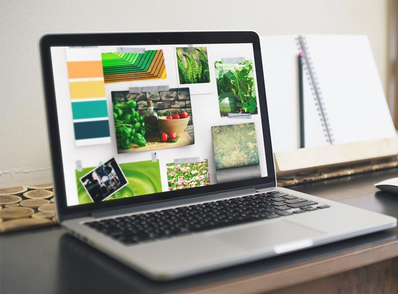 ecran macbook pro avec fond de couleurs