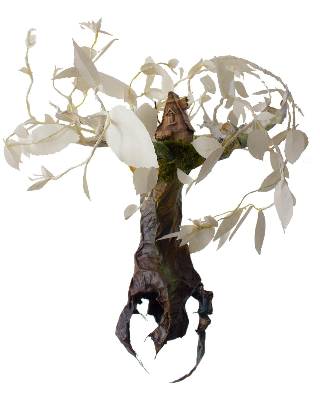 arbre en papier maché